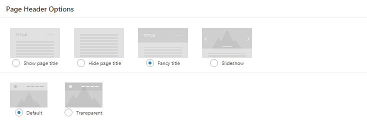 Fig. 1.2. Header overlay options.