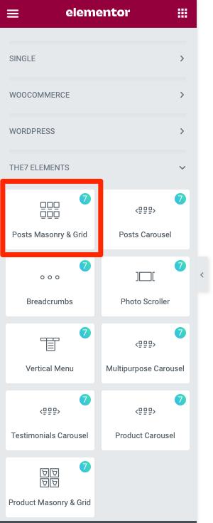 Fig. 1. Posts Masonry & Grid.