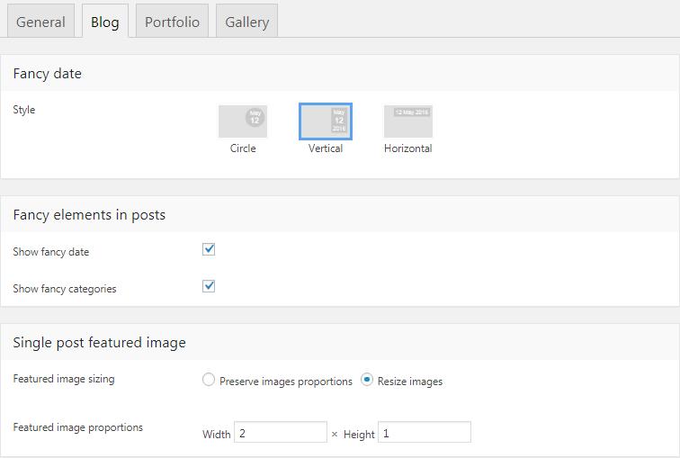 Fig. 2. Blog posts settings.