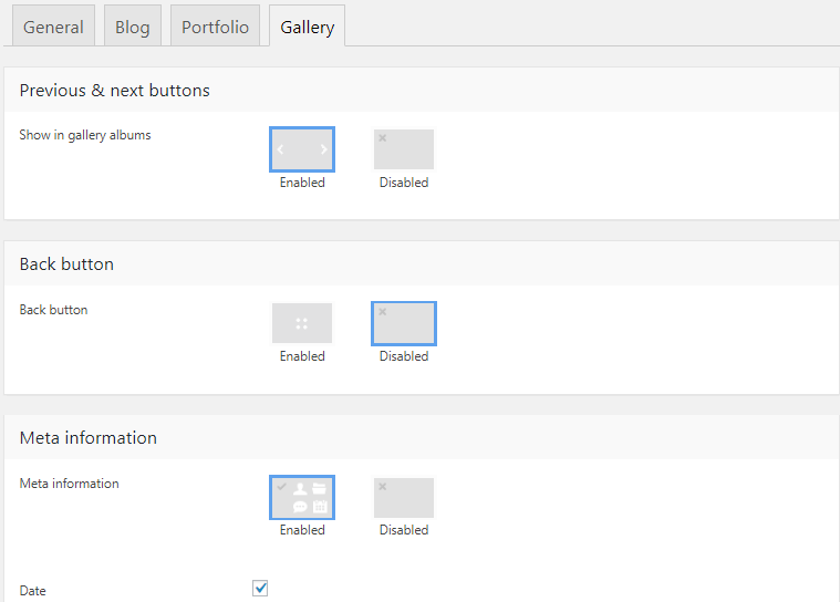 Fig. 4.1. Photo Albums settings.