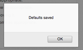Fig. 2.2. Settings are saved.