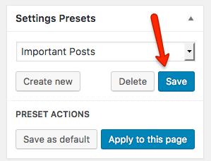 Fig. 3.3. Save the preset.
