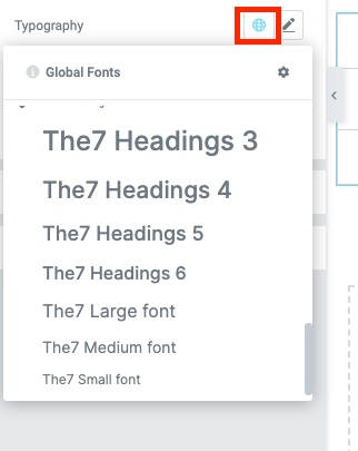 Fig. 3.3. Select font-family from theme settings.