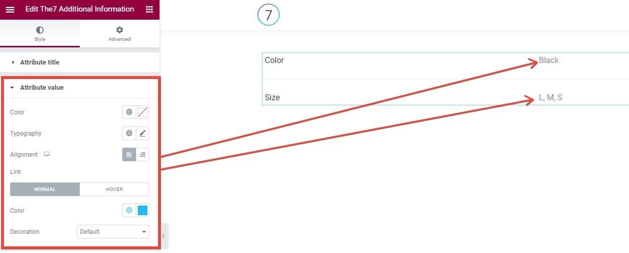 Fig. 2.2. Attribute Value tab.