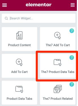 Fig. 1.1. Product Data Tabs. Widget.