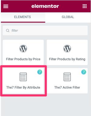 Fig. 1.1. Filter by Attributes. Widget.