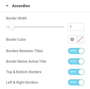 Fig. 3.1. Accordion styling. Borders.