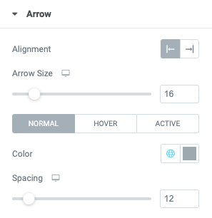Fig. 3.6. Arrow styling.