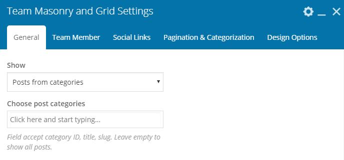 Fig. 2.2. Team Masonry & Grid settings.