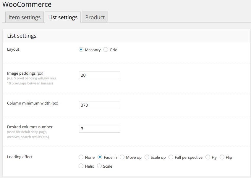 Fig. 1. WooCommerce Settings.