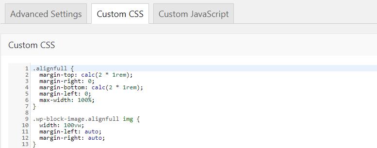 Fig. 2. Custom CSS.