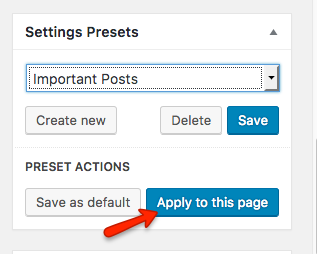 Fig. 3.5. Apply preset to a page.