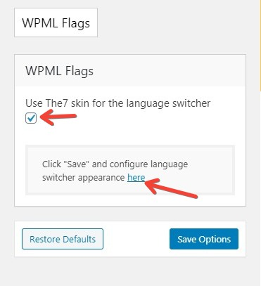 Fig. 1.2. The7 skin for WPML flags.