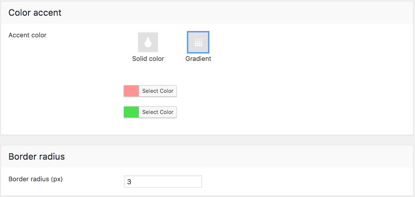 Fig. 3. Accent color settings.