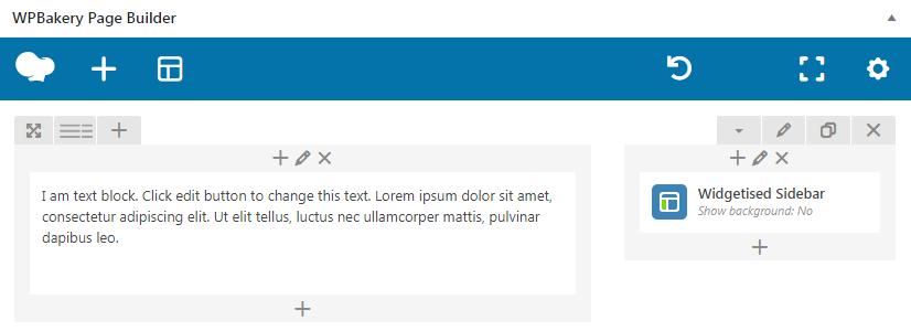 "Fig. 2. ""Widgetized Sidebar"" element in WPBakery Page Builder."