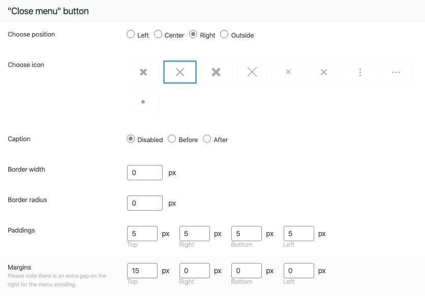 "Fig. 10.1. ""Close"" button design."