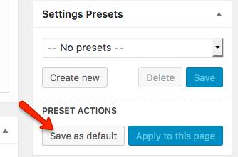 Fig. 2. Save as default.