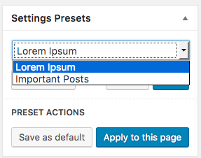 Fig. 3.4. Select preset.